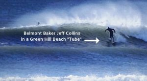 Bread Baker Jeff Collins is also a Rhode Island Surfer.