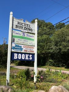 Rickel Building Plaza, home to Books on the Pond in Charlestown, RI